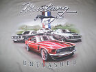 New NEWPORT BLUE Classic Ford Mustang T Shirt Size Large