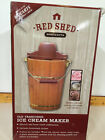 Red Shed Old Fashioned Ice Cream Maker 6 Qt Electric Or Hand Crank Recipes