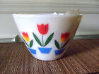 VINTAGE SET OF FIRE KING OVEN WARE NESTING MIXING BOWLS-TULIP PATTERN
