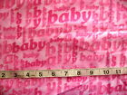 1 yd x 42 Flannel Fabric Pink with Pink Baby Allover by Hoffman Intl