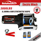X-BULL12V 3000LB Electric Winch Kit ATV Synthetic Rope Wireless Remote Control