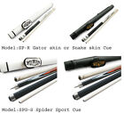 Champion Spider Pool Cue StickGator or Snake Leather wrap Cue case Glove