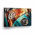 Canvas Wall Art Photo Print VW Classic Vintage Car Bus Camper Volkswagen VWH44