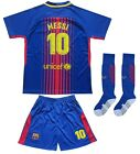 Barcelona 10 Lionel MESSI Home Kids Soccer Jersey Shorts Socks Youth Sizes