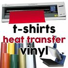 HEAT TRANSFER VINYL graphtec t shirts cutter pro 2 craft robo 5 PCS x 22x50cm