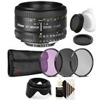 Nikon AF FX NIKKOR 50mm f/1.8D Lens for Nikon D80 D90 D7000 and Accessory Bundle