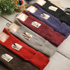 5 Pairs Womens Wool Cashmere Knee High Thick Warm Design Solid Winter Boot Socks
