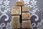 RETIRED GIVE THANKS 2006 STAMPIN UP 6 RUBBER WOOD STAMPS THANKSGIVING