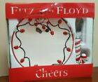 Fitz & Floyd CHEERS SNOWMAN Snack Plate & Candy Cane Spreader Cookies for Santa