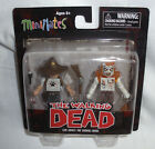 Walking Dead Mini Mates Carl Grimes and Burning Zombie MIP