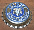 1 UNUSED PABST EXTRA LIGHT PLASTIC LINED BLUE ON SILVER BEER CROWN CAP CCSI