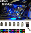 6pcs HD LED Motorcycle Accent Engine Ground Wheel Light Kit for Harley Davidson