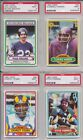 Lot of 30 1980 Topps PSA cards Bradshaw Simms Newhouse Rashad 9 and 8 low pop!