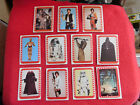 1977 STAR WARS (4th SERIES 34-44) COMPLETE STICKER SET (11) TOPPS Lot