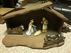 Goebel Hummel Large Nativity Wood Stable Crche
