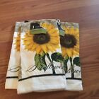 Set of 3 Sunflower Dish Towels Bright Colorful New with Tags FREE SHIPPING