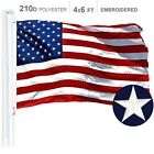 G128  American Flag US USA  4x6 ft  Embroidered Stars Sewn Stripes