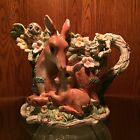 Fitz and Floyd Woodland Spring Collection - Pitcher - Deer Bunnies