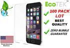 100x Wholesale Lot Tempered Glass Screen Protector for iPhone 13 12 11 MAX 8 7 6