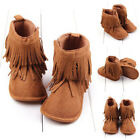 Infant Newborn Baby Girl Soft Sole Boots Toddler Tassel Moccasin Crib Shoes0 18M