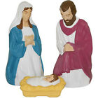 Lighted Outdoor Nativity Set 3 piece Scene Holy Family Large Lights Christmas
