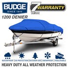 Budge 1200 Denier Boat Cover  Fits V Hull Fishing Boats  12 Colors and Sizes