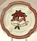 Fitz Floyd Christmas Bells Cookie Holiday Plate 9