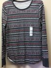 New Womens XL Old Navy Waffle Weave Thermal Top Shirt Scoop Neck Casual Layering