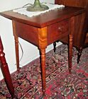 CHERRY WORK TABLE OHIO W/ INLAID PULL SWEET!