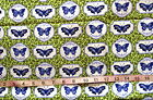 100 Cotton Fabric Botanical Blues by Northcott Fabrics Green with Butterflie