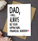 White Fathers Day Card Financial Burden Minimalist Card Funny Card for Dad