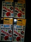 Scrapbooking rub on transfers football 4 packages