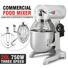 20 QT FOOD DOUGH MIXER BLENDER 1HP HEAVY DUTY 3 SPEED CATERING KITCHEN NEWEST