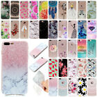 For iPhone 8 + 7 7 Plus Painted Shockproof Soft TPU Silicone Case Phone Cover
