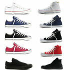 New ALL STARs Mens Chuck Taylor Ox Low High Top shoes casual Canvas Sneakers