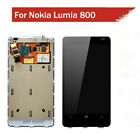 For Nokia Lumia 800 LCD Digitizer glass touch screen Assembly With Frame + Tools