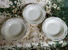 VTG (3) HOMER LAUGHLIN SALAD PLATES Virginia Rose, (3) SOUP BOWLS platinum