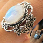 Women Men 925 Silver Ring Huge 48Ct White Opal Vintage Wedding Prom Size 6 10