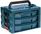 Tool Box 3-Drawer Stackable Storage Organization Weather Resistant Plastic Bosch