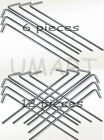 6 or 12 Piece Heavy Duty Metal Steel Tent Pegs Garden Peg Stakes Anchor Netting
