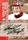 08-09 itg btp greats dominik hasek detroit red wings goaliegraph autograph auto