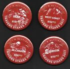 Lot of 4 HORSE RACING 2017 TRAVERS STAKES Pins PINBACK BUTTONS WEST COAST
