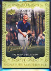 2013 UD EXQUISITE COLLECTION MASTERPIECE ARNOLD PALMER GOLD INK AUTO SSP GROUP A