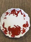 Temple Dragon by Fitz and Floyd COOKIE PLATE SCALLOPED EDGE  RED DRAGON 8 3/8