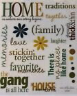 Family People Words Phrases Scrapbook Stickers