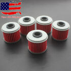 5x Oil Filter For Honda TRX450R CRF150R CRF150RB CRF250X CRF450X CRF250R CRF450R