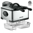 Gourmia with Deep Fryer Accessories Electric Fryers Commercial w/ E-Recipe Book