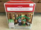 7 FT Holiday Time Airblown Inflatable Holy Family Nativity Scene BRAND NEW