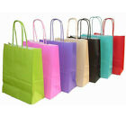 Recyclable Kraft Paper Party Bag with Handles Loot Bag Present Bag Tote Wedding