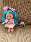 Vintage Plum Puddin Berrykin Doll With Critter Gorgeous Strawberry Shortcake
